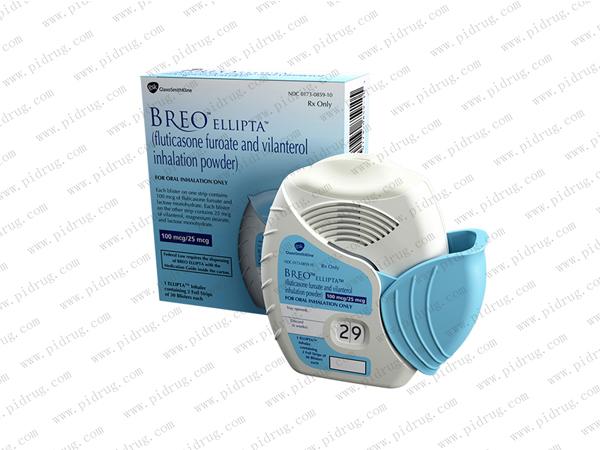 Breo Ellipta(fluticasone furoate and vilanterol inhalation)