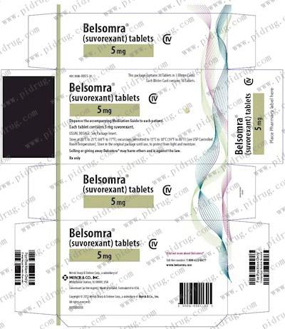 苏沃雷生片Belsomra(Suvorexant)