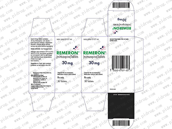 米氮平片mirtazapine